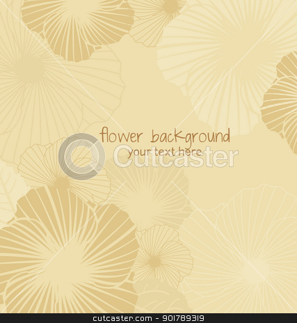 floral background stock vector clipart, brown floral background with place for text by Miroslava Hlavacova