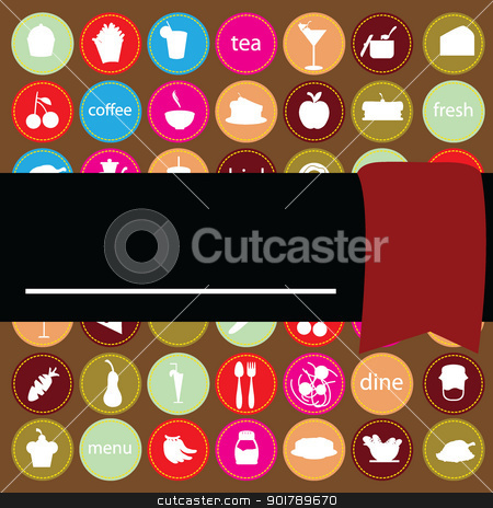 food and drink background stock vector clipart, foods items background for menu, invitation and others by glossygirl21