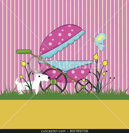 baby arrival background stock vector clipart, baby stuff for baby arrival, newborn, celebration and others by glossygirl21