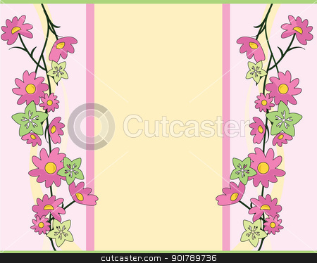 flowers background stock vector clipart, flowers background as template, decorations, banners, background and others by glossygirl21