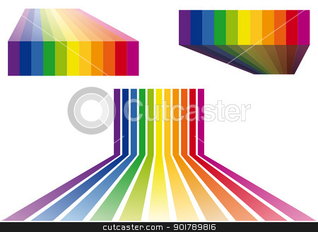 colorful stripes vector backgrounds stock vector clipart, colorful stripes background, vector design elements by Beata Kraus