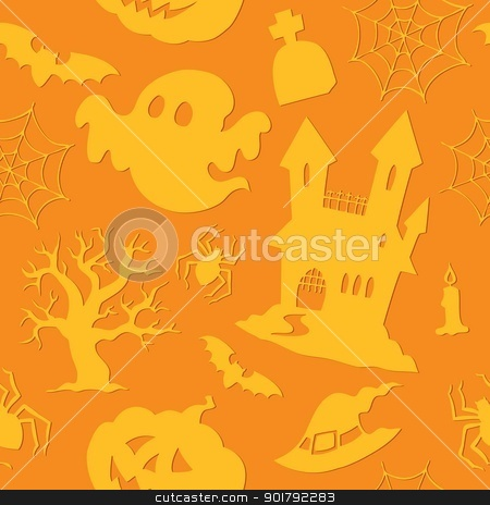 Halloween seamless background 2 stock vector clipart, Halloween seamless background 2 - vector illustration. by Klara Viskova