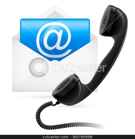 Telephone mail stock photo, Telephone mail. Illustration for design on white background by dvarg