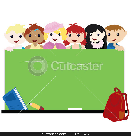 cartoon children background stock vector clipart, cartoon children background for children, school, education and others by glossygirl21