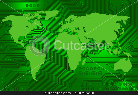 international internet connectivity stock vector clipart, Abstract image - technology abstract - global communication - international internet connectivity by Siloto