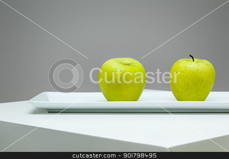 two apples stock photo, An image of two fresh green apples by Markus Gann