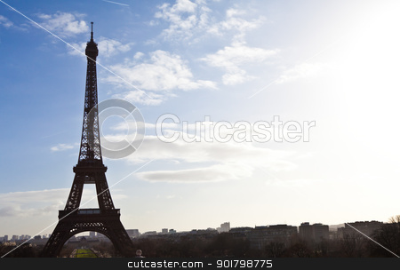 Eiffel tower stock photo, The best place in Paris to have a wonderful view on Eiffel Tower: Trocadero Terrace by Perseomedusa