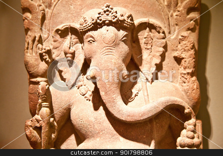 Ganesh Statue stock photo, Tipical iconic statue of Induism religion, Ganesh (also said Ganesha) by Perseomedusa