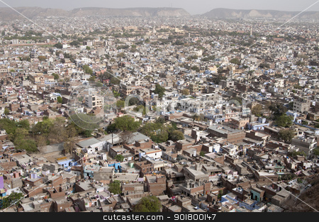 Panorama of Jaipur, Rajastan, India stock photo, Aerial view of Jaipur, Rajastan in India by johnnychaos
