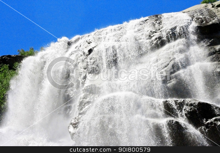 Alibek waterfall. Dombay mountains. The Northern Caucas stock photo, Alibek waterfall. Dombay mountains. The Northern Caucas by sculler