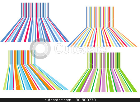 colorful striped backgrounds, vector stock vector clipart, colorful stripes background , vector set by Beata Kraus