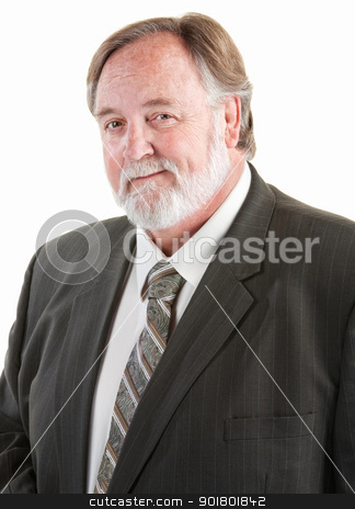Middle aged smiling man stock photo, Middle aged smiling man with necktie and suit by Scott Griessel