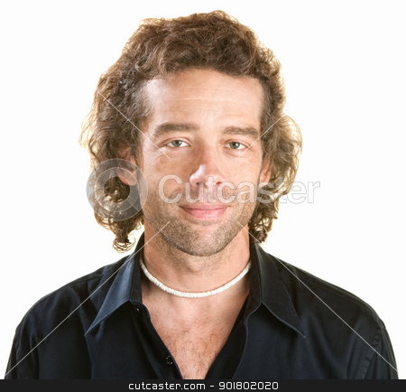 Happy Man stock photo, Attractive young white male in black shirt by Scott Griessel