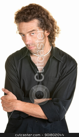 Serious Man with Folded Arms stock photo, Attractive young Caucasian male with folded arms by Scott Griessel