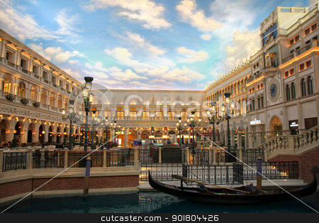 The Venetian stock photo, The Venetian Resort Hotel Casino on 2 July, 2012 in Vegas, US.  by Bagiuiani Kostas