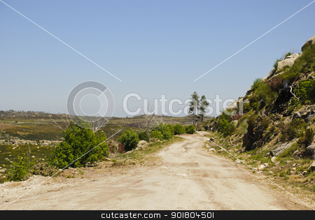 Road stock photo, Road in Serra da Estrela natural park, Portugal by dinozzaver