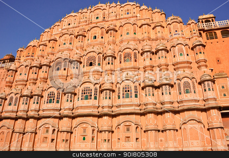 Hawa Mahal stock photo, Palace of the Winds (Hawa Mahal) in Jaipur, India  by boonsom