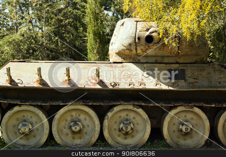 Ancient Tanks & Vehicles at North Cyprus Open Air Museum - War M stock photo, Ancient Tanks & Vehicles at North Cyprus Open Air Museum - War Memorial by Mehmet ensoy