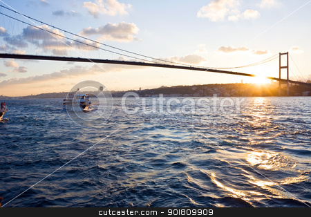 Istanbul stock photo, The Bosphorus Bridge connects Europe and Asia by Alexey Popov