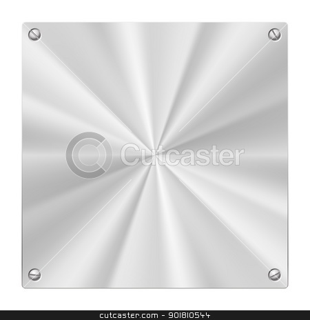 Metal Plate stock photo, Stock illustration of a Metal Plate isolated on white by dvarg