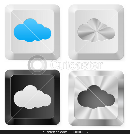 Clouds on the buttons stock photo, Clouds on the buttons. Illustration for design on white background by dvarg