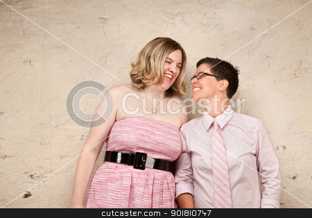 Friends Smiling stock photo, Loving friends looking at each other with smiles by Scott Griessel