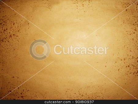 Stained old paper background stock photo, Stained old sepia paper background by steve ball