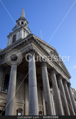 St. Martin in the Fields Church in London stock photo, St. Martin in the Fields church in London, England. by Chris Dorney
