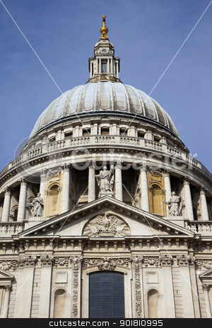 St. Paul's Cathedral, London stock photo, The magnificent St. Paul's Cathedral in London, England. by Chris Dorney