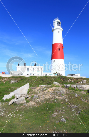 Portland Bill Light House stock photo, Famouse Light House in Portland Dorset by Ollie Taylor