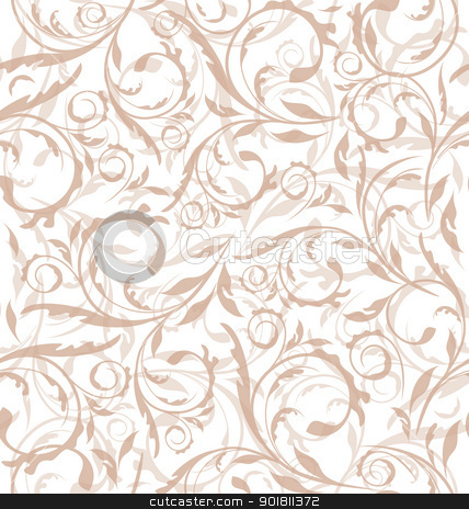 Excellent seamless floral background, pattern for continuous rep stock vector clipart, Illustration excellent seamless floral background, pattern for continuous replicate - vector by -=Mad Dog=-