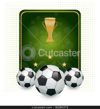 Football layout with champion cup and place for your text stock vector clipart, Illustration football layout with champion cup and place for your text - vector by -=Mad Dog=-
