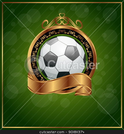 Football poster with place for your text stock vector clipart, Illustration football poster with place for your text - vector by -=Mad Dog=-