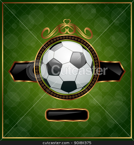 Football background with the ball stock vector clipart, Illustartion football background with the ball - vector by -=Mad Dog=-