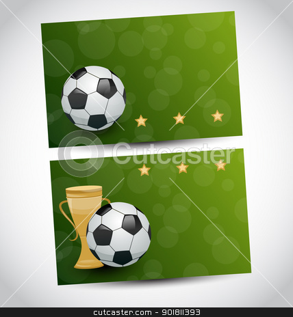 Football cards with champion cup and place for your text  stock vector clipart, Illustration football cards with champion cup and place for your text - vector by -=Mad Dog=-