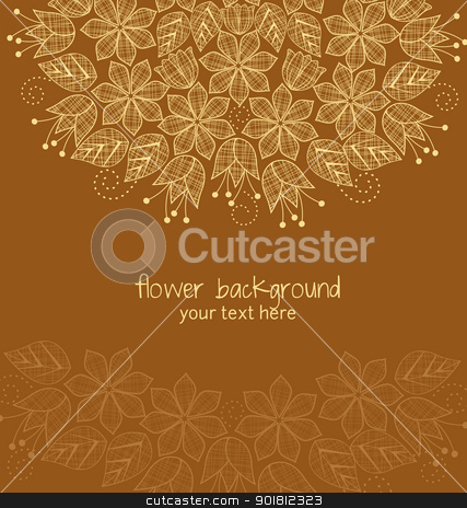 Floral  background stock vector clipart, textile decoration flowers in the background by Miroslava Hlavacova