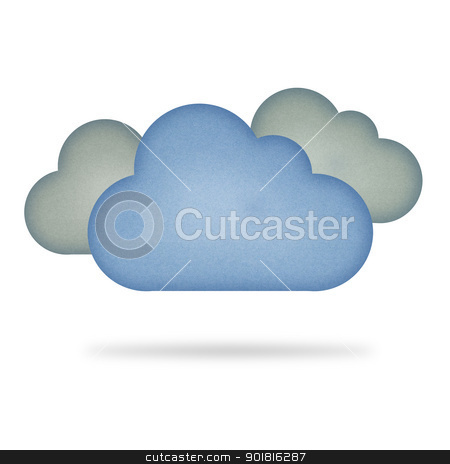 Recycle paper cloud , isolated on white stock photo, Recycle paper cloud , isolated on white by jakgree