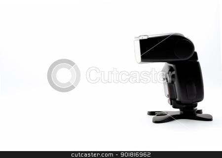 Camera flash light front side view on white back ground stock photo, Camera flash light front side view on white back ground by moggara12