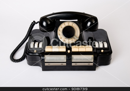 old phone old technology stock photo, old phone old technology, historical telephone by Vadim