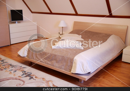 Magnificent double bed stock photo, Magnificent double bed. by Vadim