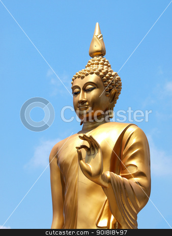 Statue of Buddha in Thailand stock photo, Statue of Buddha in Thailand by jakgree