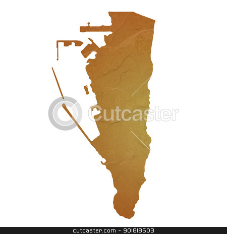 Textured map of Gibraltar stock photo, Textured map of Gibraltar map with brown rock or stone texture, isolated on white background with clipping path. by Martin Crowdy