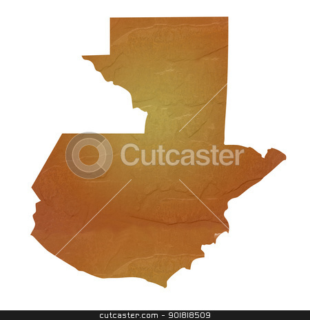 Textured map of Guatemala stock photo, Textured map of Guatemala map with brown rock or stone texture, isolated on white background with clipping path. by Martin Crowdy