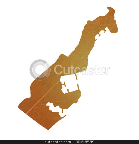 Textured map of Monaco stock photo, Textured map of Monaco map with brown rock or stone texture, isolated on white background with clipping path. by Martin Crowdy