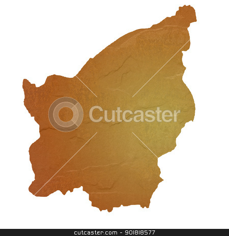 Textured map of San Marino stock photo, Textured map of San Marino map with brown rock or stone texture, isolated on white background with clipping path. by Martin Crowdy