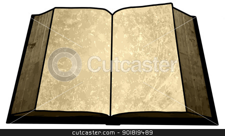 Golden Empty Blank Book Image stock photo, Golden Empty Blank Book Image with Text Area by Snap2Art