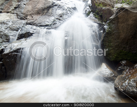 waterfall in the jungle, Koh Samui island, Thailand stock photo, waterfall in the jungle, Koh Samui island, Thailand by jakgree
