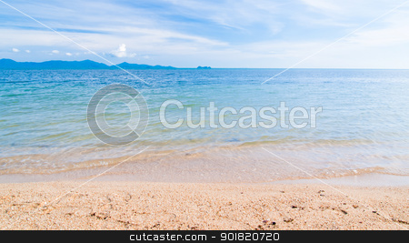 Landscape of beach in Samui Island Thailand stock photo, Landscape of beach in Samui Island Thailand by jakgree