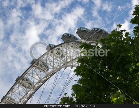 london eye stock photo, london eye in London UK by nevenm