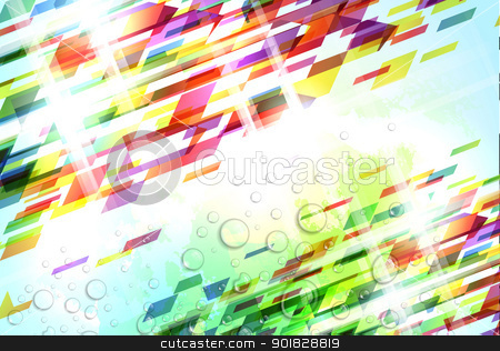 Abstract Colorful Background stock vector clipart, Abstract illustration with shattered elements on soft textured background by Liviu Peicu